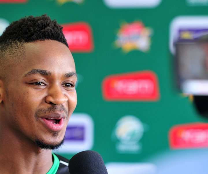 Khaya Zondo during the 2015 RAM Slam T20 Sunfoil Dolphins Press Conference and Training Session at Kingsmead Stadium, Durban on the 03 November 2015 ©Muzi Ntombela/BackpagePix