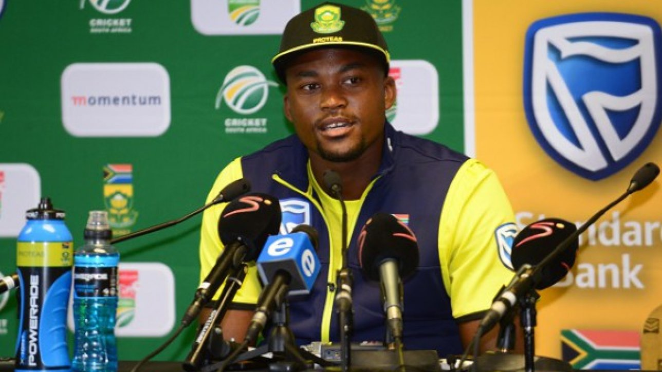 PRETORIA, SOUTH AFRICA - SEPTEMBER 30: Andile Phehlukwayo of the Proteas during the 1st Momentum ODI Series match between South Africa and Australia at SuperSport Park on September 30, 2016 in Pretoria, South Africa. (Photo by Lee Warren/Gallo Images)