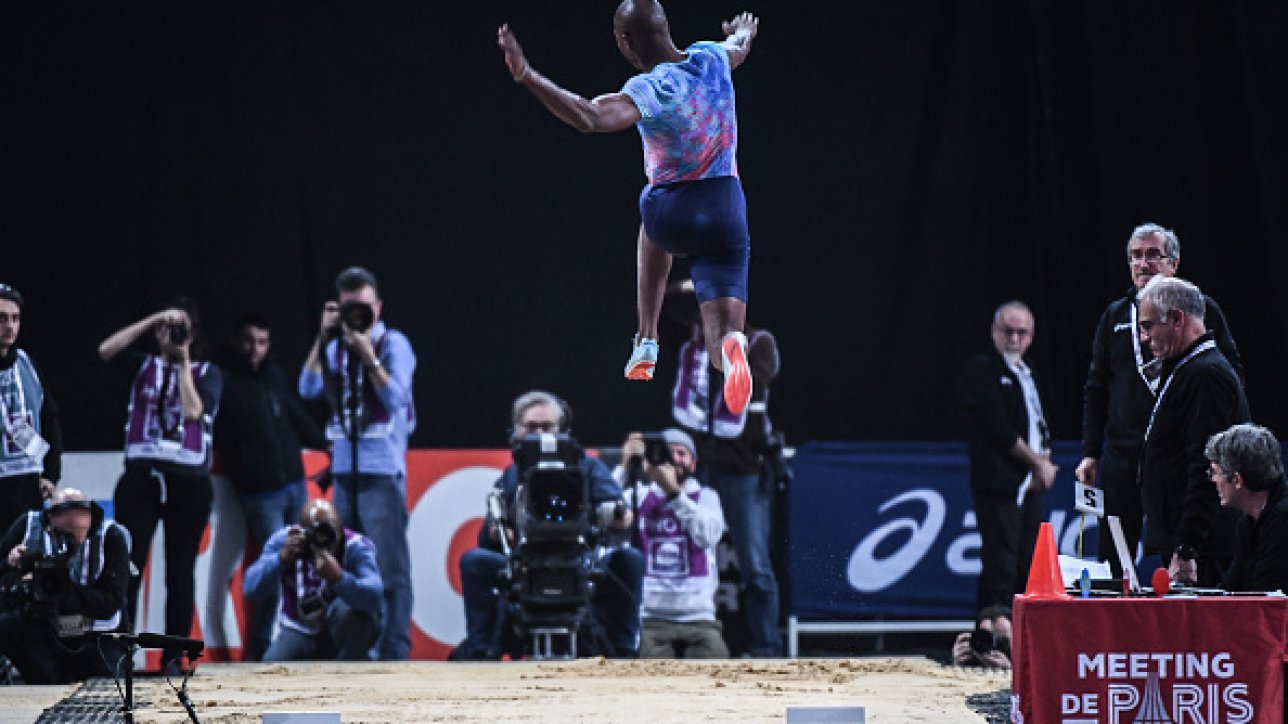 Luvo Manyonga (long jump) during the Meeting of Paris Indoor 2018 at AccorHotels Arena on February 7, 2018 in Paris, France. (Photo by Anthony Dibon/Icon Sport)