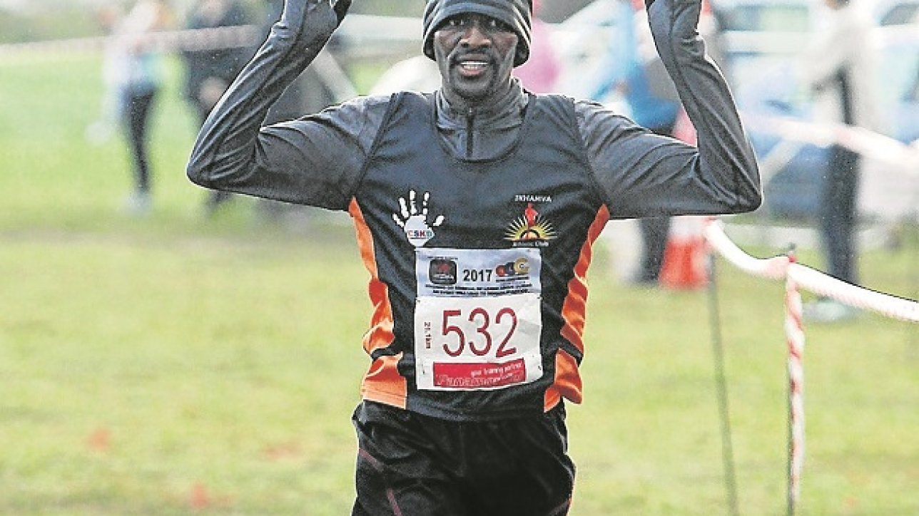 Melikhaya Frans winner of the mens EP 21 km half marathon campionship at Maranatha Childrens Home in Southdene. Picture: Brian Witbooi, 13 May 2017, The Herald