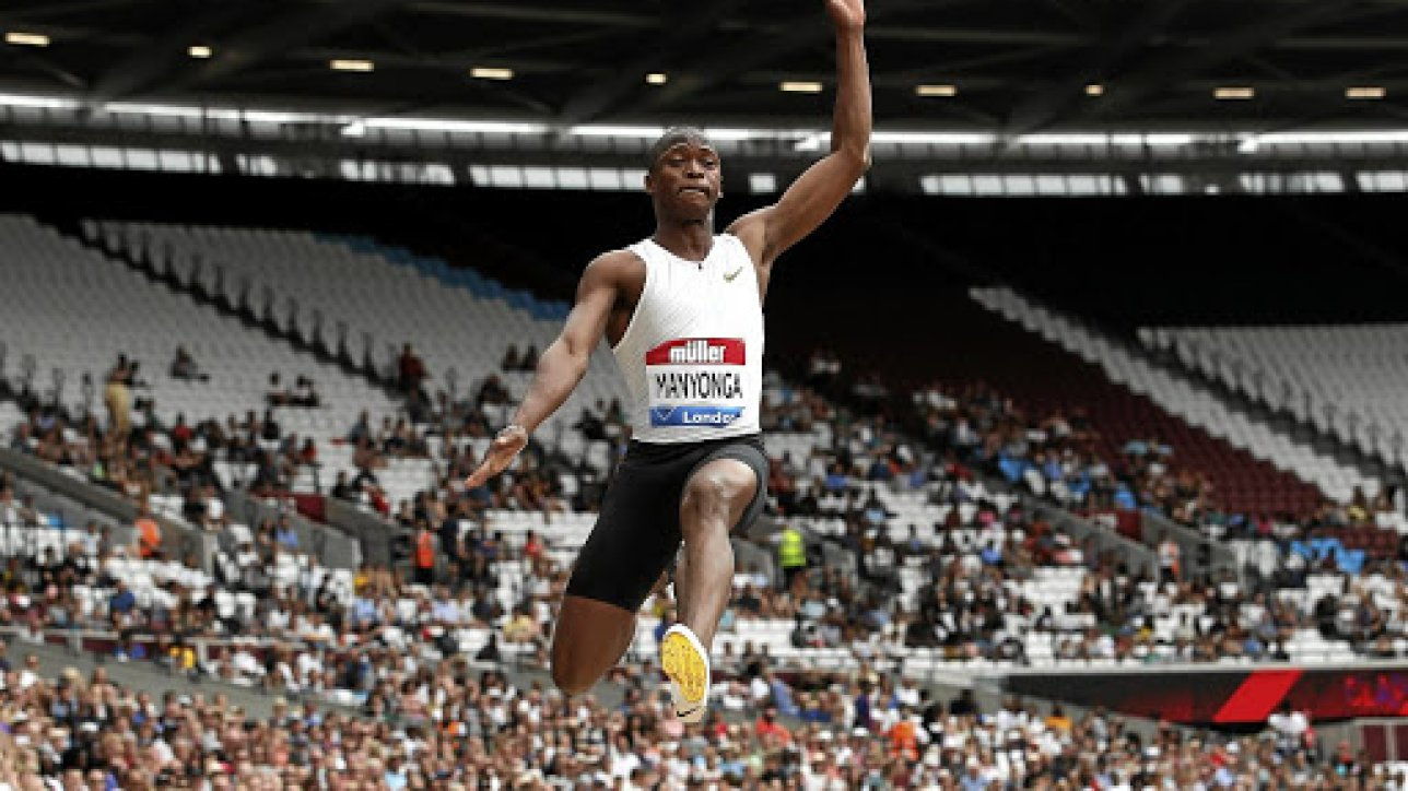 Athletics - Diamond League - London Anniversary Games - The London Stadium, London, Britain - July 22, 2018   South Africa's Luvo Manyonga in action during the Men's Long Jump   REUTERS/David Klein